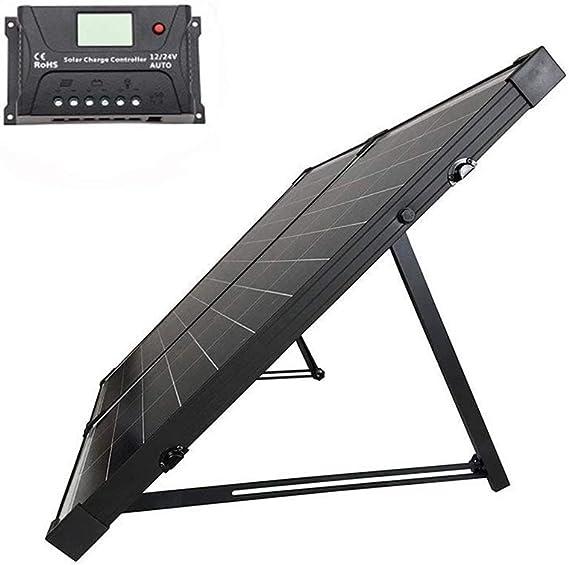 HQST 100 Watt 12Volt Off Grid Monocrystalline Portable Foldable Solar Panel