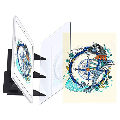 Optical Drawing Board, Optical Tracing Board Image Drawing Board Drawing Projector Optical Painting Board Sketching Tool Idea Gift for Kids, Adults, Beginners and More