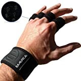 Emerge Fitness Cross Training Grips for Pull Ups, Cross Training, Gym, Home Workout Wrist Support | Hand Protection from Calluses, Blisters, Rips & Joint Protection from Injury