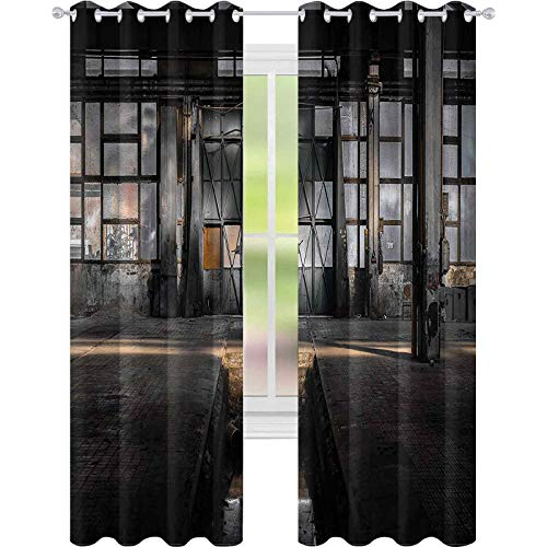 Cortina de ventana industrial de 42 x 72 para oscurecer la habitación, para sala de estar