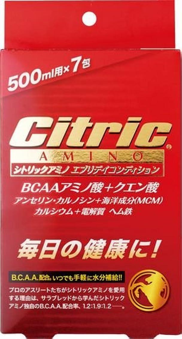 パテ統治する寝てるシトリックアミノ(Citric AMINO) (美容と健康) エブリディコンディション 6g×7包入 すっきりフレッシュオレンジ味  8140