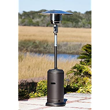 Golden Flame 46,000 BTU (XL-Series) Rich-Mocha Patio Heater with Wheels (Propane)