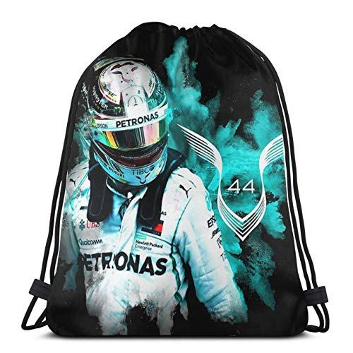 jiadourun Drawstring Bags Lewis Hamilton Wall Stickers christmas Unisex Travel Backpack Sport Gym Backpacks Shopping Storage Bag