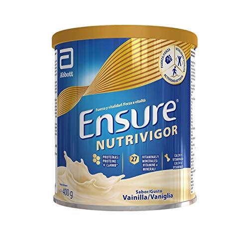 Ensure Nutrivigor - Complemento Alimenticio para Adultos, con HMB, Proteínas, Vitaminas y Minerales, como el Calcio - Sabor Vainilla - 400 g