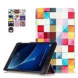 Skytar Galaxy Tab A 10 Pouces étui Case - Housse de Protection Smart Cover Case Coque en Cuir Flip Etui pour Samsung Galaxy Tab A 10.1 Pouces T580N / T585N (2016 Version),Cube coloré