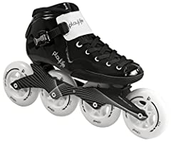 Built for speed, these inline skates have a lightweight structure, vibration absorption and low center of gravity Fiberglass, heat moldable, low cut boot shell is designed for strength and support, while the soft and comfortable liner provides unmatc...