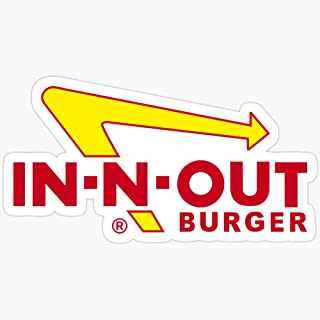 BeliNZStore in-N-Out Burger Stickers Stickers (3 Pcs/Pack)