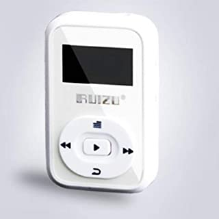 TZOU x26 Fashion Mini Bluetooth MP3 Player 8GB Sport MP3 Music Player with Recorder FM Radio Support TF Card White 8GB