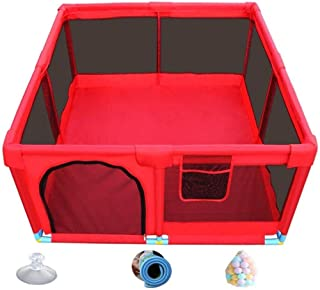 YLLSB-Baby fence Large Cleanable Oxford Cloth Play Yard  nbsp Infant Play Fence Red  Sizes  Size A-190x128x66cm  C-128x128x66cm  Size C-128x128x66cm