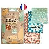 L'Embeillage®, Le Bee Wrap français - Emballage Alimentaire réutilisable - Fabriqué en France, Bio et 100% Naturel en Cire d'Abeille