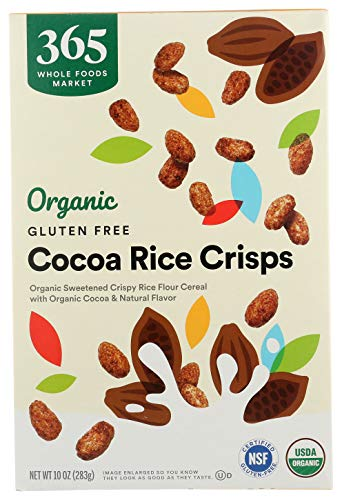 365 by Whole Foods Market, Organic Cereal, Gluten Free Cocoa Rice Crisps, 10 Ounce