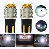 HOCOLO T10 161 175 558 579 285 585 2450 2652 2921 2825 LED 6000K Xenon White Light Bulbs-Backup Reverse Turn Signal Switchback RV SUV MPV Car Tail Brake Lamp Projector Lens(2pcs 194 168 158 921 W5W)