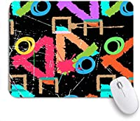 KAPANOUマウスパッド 起毛レインボーヴィンテージアートワークアブストラクトペイントカラーグランジストロークSplashescircles ゲーミング オフィ滑り止めゴム底 ゲーミングなど適用 用ノートブックコンピュータ
