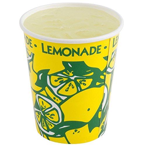 Perfecte Stix lcl16–50 gedronceerd papier limonade mok met deksel, 16 oz (50 bekers, rietjes en deksel) (50 stuks)