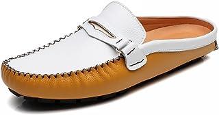 [ゼンシン]ZENSINメンズビジネスサンダル スリッパ 靴 革スリッポン モカシン シューズ カジュアルドライビングシューズ ビジネスシューズ軽量