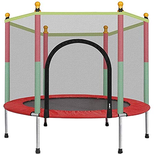 Tll-mm Mini Trampoline with Handle Exercise Rebounder Workouts Jumper with Stability Bar Aerobic Bouncer Fun & Effective Home Gym