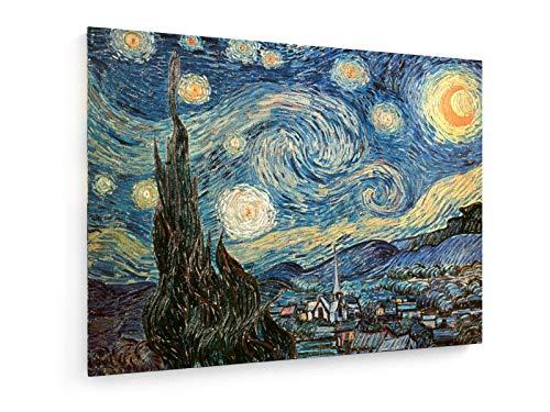 weewado Vincent Van Gogh - Noche Estrellada - 1889-40x30 cm - Impresion en Lienzo - Muro de Arte - Canvas, Cuadro, Poster - Old Masters/Museum