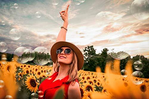Pintura por número para adultos,kit de pintura DIY por número para principiantes o niños como regalo (16 x 20 in.) sin marco-Mujer con gafas de sol y sombrero de paja de pie en el campo de girasol