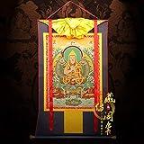 Z.L.F.J.P Tibetisch DREI gestickte Thangka-Gemälde von Master Tsongkhapa des tibetischen Pavillons, Meister von Tangka-Brokat, Meister und Lehrling von