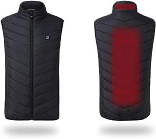mewmewcat 2019 USB elétrico aquecido segurança morna colete inteligente de outono e inverno masculino feminino jaqueta de ...