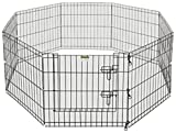 Pet Trex 24' Exercise Playpen for Dogs Eight 24' x 24' High Panels with Gate