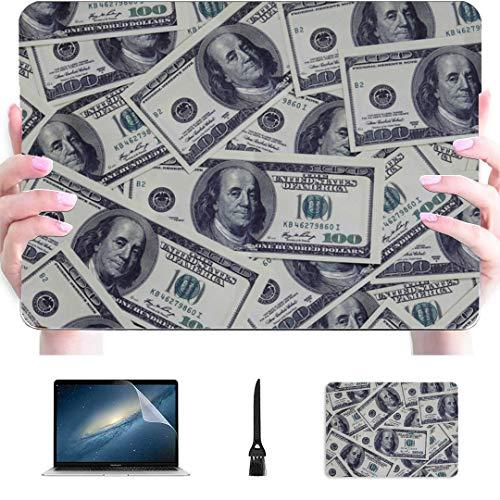 Accesorios para Laptop Pro Un montón de Montones desordenados de dólares Juntos Funda rígida de plástico Compatible con Mac Air 13