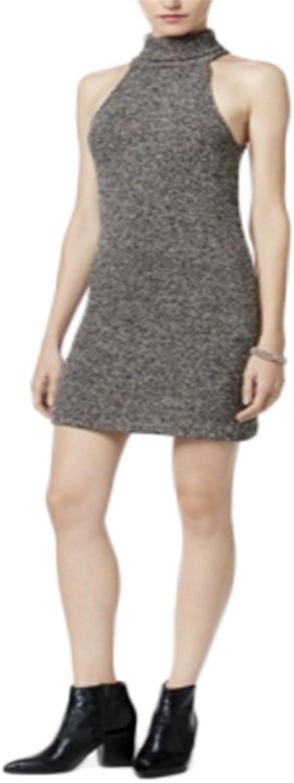 Bar III Turtleneck Sweater Dress, Black, XLarge