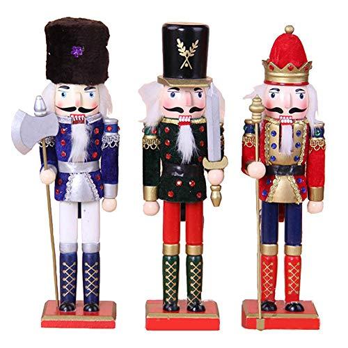 Makluce nieuwe creatieve kerstmis Europese en Amerikaanse houten soldaten notenkraker pop 3 stuks set decoratie partij sieraden