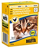 Bozita Cat mit Huhn & Pute 370g Katzen-Nassfutter Häppchen in Sosse