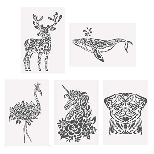 Malerei Lantillas, Kunststoff-Zeichenschablonen Mandala-Schablonen zum Malen, Steinsteine, Holzmöbel und