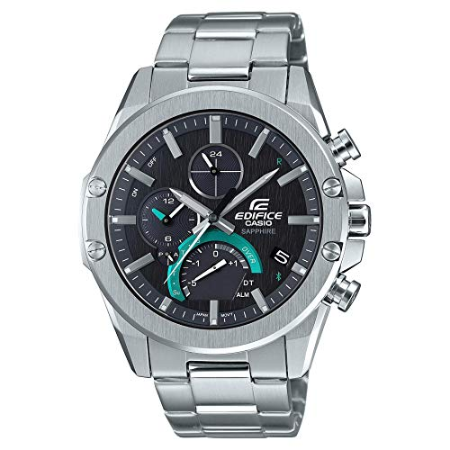 Casio Men's Edifice Connected Watch with Stainless Steel Strap, Silver, 21.9 (Model: EQB-1000D-1ACF)
