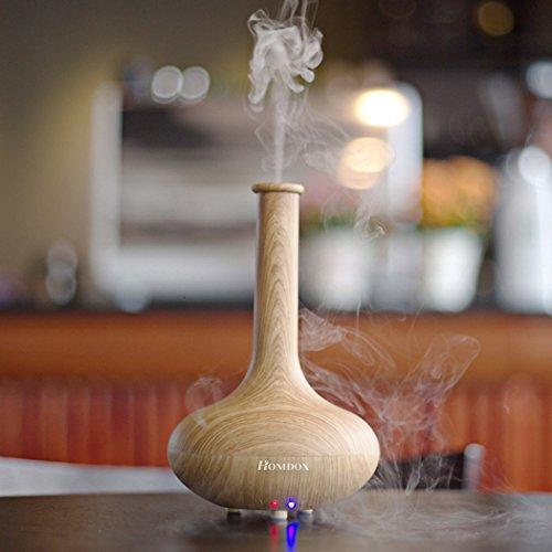 Homdox Elettrico Aromaterapia Diffusore con Tranquillo nebbia fredda, Ultrasuoni, Spegnimento automatico(Forma Vaso)