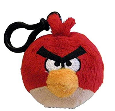 Angry Birds Plush Backpack Clip - Red Bird