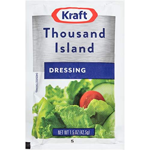 Kraft Thousand Island Salad Dressing Single Serve Packet (1.5 oz Packets,...