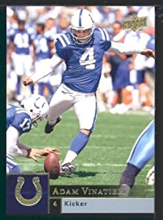Adam Vinatieri - Colts - 2009 Upper Deck NFL Trading Card
