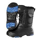 Willsky Botas De Nieve Para Hombres Zapatos De Pesca Alta Altas De Acero Nail Antideslizante Mantenga Zapatillas De Senderismo Al Aire Libre Impermeable,Negro,44EU