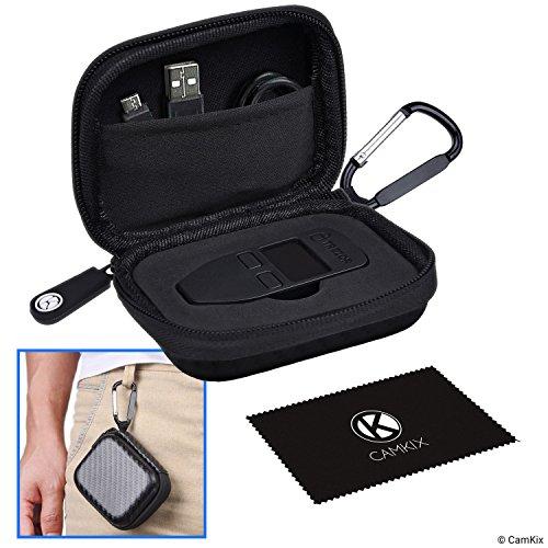 Schutzhülle/Aufbewahrungshülle für Trezor One Bitcoin/Kryptowährung Wallet - Robuste Hartschalen Hülle aus Nylon mit Netztasche (für USB-Kabel) und Karabiner - Hochqualitativer Reißverschluss