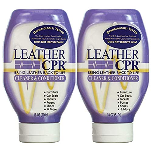 CPR Cleaning Products Cuir (Printemps Nettoyage 2PK 18 oz Bouteilles)-Cuir Exempt d'Irritant nettoyant et revitalisant pour Votre Maison