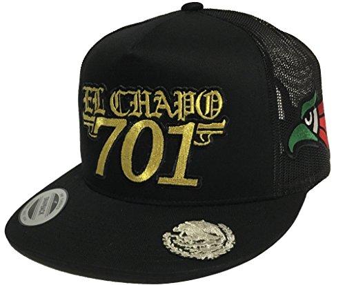 Mexico /Águila Gold 3D Logo Federal Gold en la Visera 4 Logos hat Black Snapback