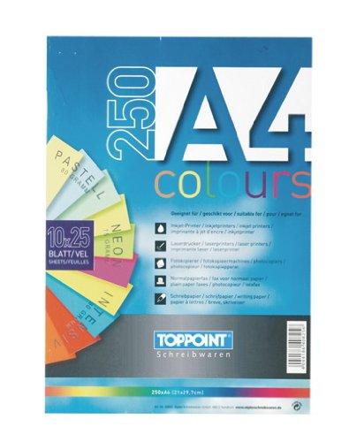 500 (2x 250) Blatt farbiges Druckerpapier buntes Kopierpapier
