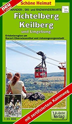 Doktor Barthel Wander- und Radwanderkarten, Wanderkarte und Radwanderkarte 'Die 1000er im Erzgebirge' (Schöne Heimat)