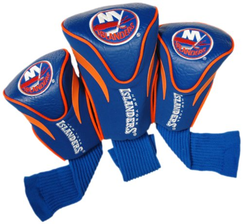 Team Golf NHL New York Islanders Contour Golf Club Headcovers (3 Count), Numbered 1, 3, & X, Fits Oversized Drivers, Utility, Rescue & Fairway Clubs, Velour lined for Extra Club Protection