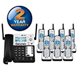 AT&T SB67138 + 6 SB67108 - 8 Handset Corded/Cordless Combination 4-Line 1.9GHz Telephone System