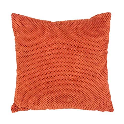 ZXKEE cojines Cover Superficie de pana Casa decorativos funda cojin Plaza 45x45 cm (Naranja)