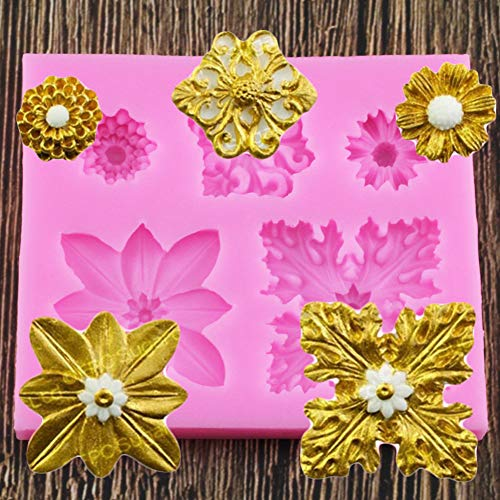 ZHQIC Gem Cake Border Silicone Mold Gem Jewelry Relief Fondant Cake Decorating Tools Gumpaste Chocolate Candy Moulds
