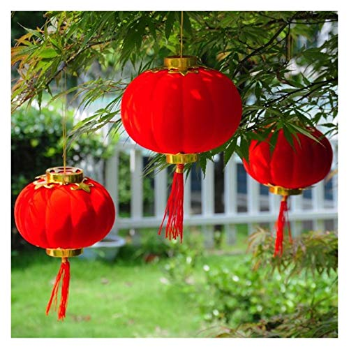 Bidema 30Pcs/Set Lantern Spring Festival New Year Traditional Chinese Red Small Hanging Lantern Festival/Wedding/Party Decorations