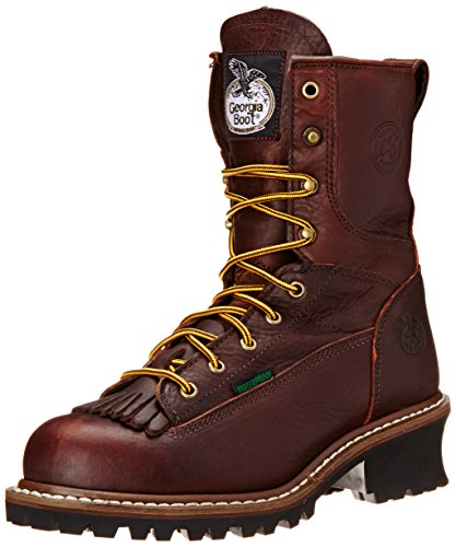 Georgia Men's 8' Loggers G7313, Tumbled Chocolate, 11.5 M US