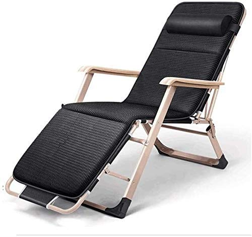 XYSQWZ Folding Recliner Deck Chair Zero Gravity Armchair Indoor Dining Home Office Chair for Outdoor Dining Camping Inclined Camping Chair On The Lawn Color A Size 178x52x25cm