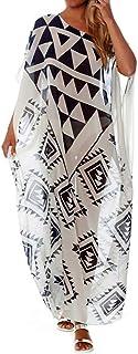Bestyyou Women's Long Caftan Loungewear Ethnic Kaftan Maxi Dress Swimsuit Cover Up Swimwear Beachwear