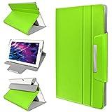 eFabrik Tasche für Medion Lifetab P10356 Schutztasche Hülle Schutzhülle Hülle Cover Sleeve Folio MD99632 Leder-Optik grün